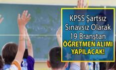 İŞKUR tarafından KPSS Şartsız sınavsız olarak 19 branştan öğretmen alımı yapılacaktır!