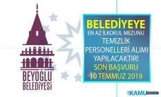 İstanbul Beyoğlu Belediyesi İŞKUR üzerinden en az ilkokul mezunu temizlik personeli alımı yapılacak! Belediye Personel alımı başvuru şartları nelerdir?