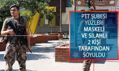 İstanbul Kağıthane'de PTT Şubesi Yüzleri Maskeli ve Silahlı 2 Kişi Tarafından Soyuldu!
