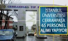 İstanbul Üniversitesi Cerrahpaşa 65 Personel Alımı Yapıyor! Güvenlik Görevlisi, Temizlik Görevlisi ve Destek Personeli İş İlanları