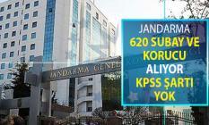 Jandarma 620 Subay ve Korucu Alımı Yapıyor ! KPSS Şartı Yok