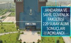 Jandarma Ve Sahil Güvenlik Fakültesi 220 Subay Alımı Sonuçları Açıklandı! 220 Subay Alımı Sonuçları Sorgulama Ekranı!
