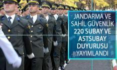Jandarma ve Sahil Güvenlik Fakültesi 220 Subay Astsubay Alımı Sınav Takvimi Açıklandı!