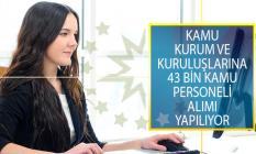 Kamu Kurum ve Kuruluşlarına 43 Bin Kamu Personeli Alımı Yapılıyor!