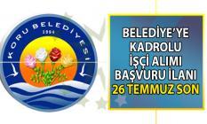 Koru Belediyesi kadrolu 6 işçi alımı başvuru ilanı