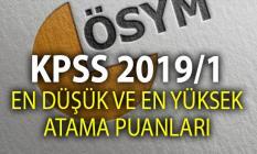 En düşük KPSS 2019 puanı ile memur atamaları