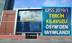 KPSS 2019/1 Merkezi Atama Tercih Kılavuzu ÖSYM Tarafından Yayımlandı