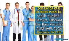 KPSS 50 taban puanı ile Araştırma Hastanesine 97 sağlık personeli Alımı iş ilanı!