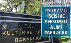 Kültür Bakanlığı 950 Kamu İşçisi ve Kamu Personeli Alımı Yapacak