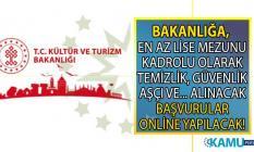 Kültür ve Turizm Bakanlığı Devlet Tiyatroları en az lise mezunu 56 kadrolu işçi alımı yapacak!