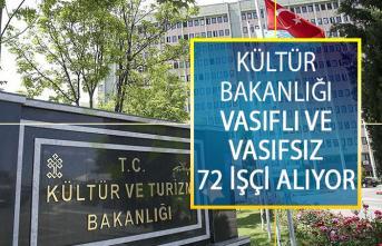Kültür Ve Turizm Bakanlığı Vasıflı Ve Vasıfsız 72 İşçi Alımı Yapacak! Kültür Bakanlığı Personel Alım İlanı