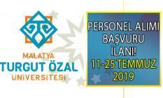 Malatya Turgut Özal Üniversitesi 25 Temmuz'a kadar 7 öğretim görevlisi alımı yapacak! Peki akademik personel alımı başvuru şartları nelerdir?