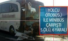 Manisa'da son dakika trafik kazası! Salihli İlçesinde Yolcu Otobüsü İle Minibüs Çarpıştı!