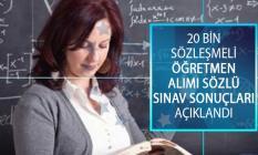 MEB 20 Bin Sözleşmeli Öğretmen Alımı Sözlü Sınav Sonuçları Açıklandı! Sözleşmeli Öğretmenlik Sözlü Sınav Sonuçları Sorgulama Ekranı!