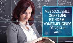 MEB Sözleşmeli Öğretmen İstihdamı Hakkında Yönetmelikte Değişiklik Yapıldı!