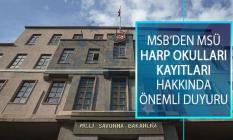 Milli Savunma Bakanlığı (MSB) Milli Savunma Üniversitesi (MSÜ) Harp Okulları Adayları Kayıtları Hakkında Önemli Duyuru!