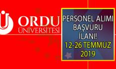 Ordu Üniversitesi 26 Temmuz'a kadar 4 personel alımı yapacak!