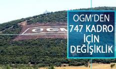 Orman Genel Müdürlüğü (OGM) 747 Kadro İçin Açtığı Unvan Değişikliği Sınavında Değişiklik Yaptı!