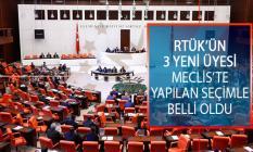 Radyo Ve Televizyon Üst Kurulu'nun (RTÜK) 3 Yeni Üyesi TBMM Genel Kurulu'nda Yapılan Seçimle Belli Oldu!