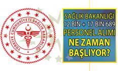 Sağlık Bakanlığı 2019 personel alımı iş başvurusu ne zaman başlıyor!