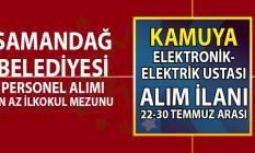 Samandağ Belediyesi en az ilkokul mezunu elektronik teknisyeni ustası personel alımı başvuru ilanı