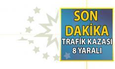 Şanlıurfa Akçakale yolu Son Dakika trafik kazası! 8 Yaralı