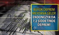 Son Dakika şiddetli deprem haberi! Endonezya'nın Kuzey Maluku eyaletinde 7,2 şiddetinde deprem meydana geldi