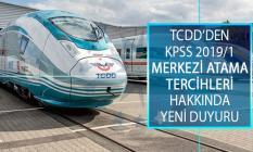 TCDD Taşımacılık Genel Müdürlüğü KPSS 2019/1 Merkezi Atama Kapsamında İstenen Evrakları Açıkladı!