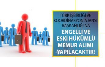 Türkiye İş Kurumu (İŞKUR) kamuya kadrolu 2 engelli ve 3 eski hükümlü memur alımı yapacak!