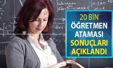 20 Bin Öğretmen Atama Sonuçları MEB Tarafından Açıklandı