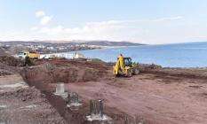 Ahlat Van Gölü Sahiline yapılan Cumhurbaşkanlığı Köşkü inşası AYM'nin kararına rağmen devam ediyor!