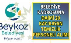 Beykoz Belediyesi 20 temizlik personeli alım ilanı başvuru şartları