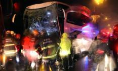 Bolu TEM Otoyolu'nda yolcu otobüsü TIR'la çarpıştı! Çok sayıda yaralı var