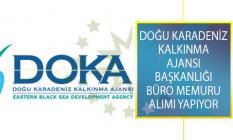 Doğu Karadeniz Kalkınma Ajansı Başkanlığı 23 Ağustos'a Kadar Büro Memuru Alımı Yapacağını Duyurdu!