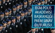 Emniyet Genel Müdürlüğü (EGM) Polis Akademisi Başkanlığı 2019 Yılı PAEM İlk Derece Amirlik Eğitimi Sınav Sonucu Açıklandı!
