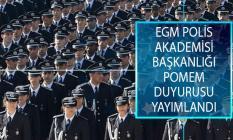 Emniyet Genel Müdürlüğü (EGM) Polis Akademisi Başkanlığı Üzerinden POMEM Eğitim Sonu Sınavı Duyurusu Yayımlandı!