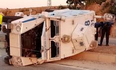 Hatay'da Zırhlı Polis Aracı Devrildi! 2 Polis Memuru Yaralandı!