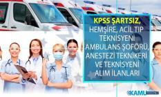 İŞKUR 04-10 Ağustos KPSS şartsız en az lise ve önlisans mezunu sağlık personeli alımı online iş başvurusu
