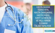 İŞKUR çeşitli hastanelere en az ilkokul, lise ve önlisans mezunu 181 sağlık personeli alımı yapacak!