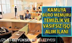 İŞKUR tarafından Kamuya 30 Büro personeli 12 Vasıfsız işçi ve 20 Temizlik personeli alımı yapılacak!