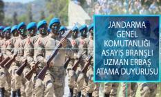 Jandarma Genel Komutanlığı (JGK) Asayiş Branşlı Uzman Erbaş Atama Duyurusu Yayımlandı!