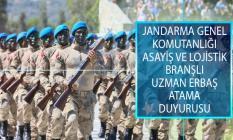 Jandarma Genel Komutanlığı (JGK) Asayiş ve Lojistik Branşlı Uzman Erbaş Atama Duyurusu Yayımladı!