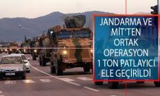 Jandarma ve MİT'ten Suriye'nin Bab İlçesinde Ortak Operasyon! 1 Ton Patlayıcı Ele Geçirdi