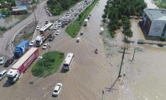 Karadenizde etkin sağanak yağış Samsun'da sele dönüştü!