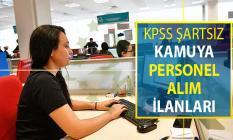 KPSS Şartı Olmadan Kamu Personeli Alımı Yapılan İlanlar ! Kamu Memur Alımı İlanları