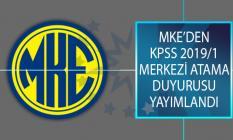 Makina ve Kimya Endüstrisi Kurumu (MKE) KPSS 2019/1 Merkezi Atama Kapsamında İstenen Evraklar Açıklandı