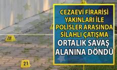 Manisa Turgutlu'da polisler ile cezaevi firarisi yakınları arasında silahlı çatışma!