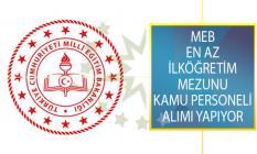 Milli Eğitim Bakanlığı (MEB) Öğretmenevi İle İl Müdürlüklerinde İstihdam Edilmek Üzere Kamu Personeli Alımı Yapacağını Duyurdu!
