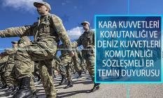 MSB 2019 Yılı Kara Kuvvetleri Komutanlığı ve Deniz Kuvvetleri Komutanlığı Sözleşmeli Er Temin Duyurusu Yayımladı