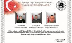 MSB'dan Kuzey Irak'ta Pençe 3 operasyonlarında şehit olan askerlerimize başsağlığı mesajı
